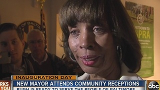 New Baltimore Mayor Catherine Pugh attends community receptions