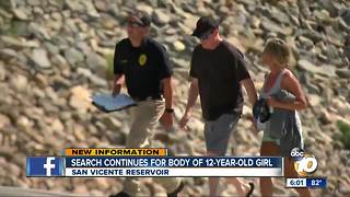 Search continues for body of 12-year-old girl