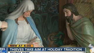Thieves take aim at holiday tradition in Balboa Park - Video
