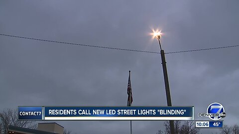 Residents say new LED streetlights are blinding