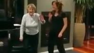 Grandma busts out impressive dance moves
