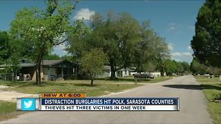 Distraction burglaries hit Polk, Sarasota - Video