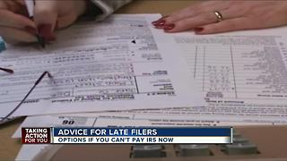 Advice for late filers - Video