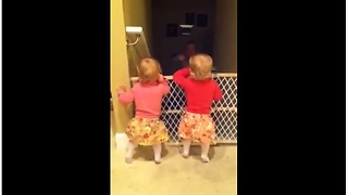 Identical Twins Get Ecstatic When Daddy Comes Home