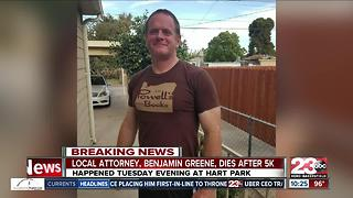 Bakersfield Attorney Benjamin Greene dies after 5k run at Hart Park - Video