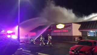 Denny's catches fire on Northwest Side - Video