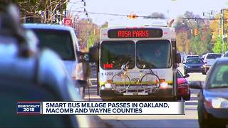 SMART bus millage passes in Oakland, Macomb & Wayne counties - Video
