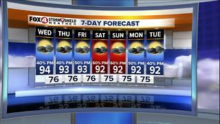 Hot and Humid with Scattered Afternoon Storms - Video