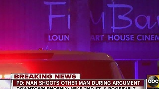Man shot outside of Film Bar in Phoenix - Video