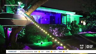 St. Petersburg residents turns children's treehouse into socially-distant UFO for trick-or-treating