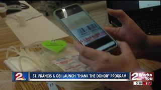 'Thank the Donor' program launches - Video