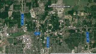 New construction project in Jackson closes I-94 exit