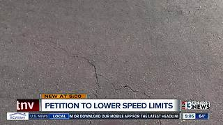Petition to lower speed limits in Las Vegas - Video