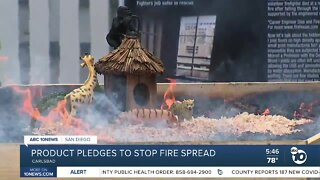 Product pledges to stop fire spread