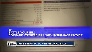 Five steps to lower cost of medical bills
