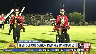 Student with spina bifida inspires Strawberry Crest High's marching band
