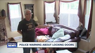 Lancaster Police warn people to lock doors - Video