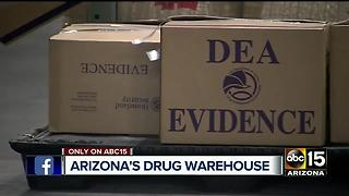 ABC15 gets exclusive look at DEA drug warehouse - Video