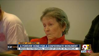 Confederate monument finds a forever home - Video