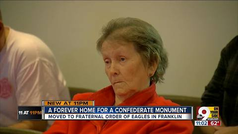 Confederate monument finds a forever home