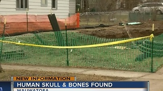 Skull found at Wauwatosa construction site confimed as human - Video