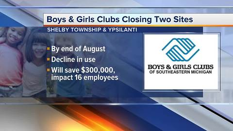 Boys & Girls Clubs closing two sites in Shelby Township anf Ypsilanti