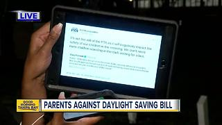 Parents against year-round Daylight Saving Time
