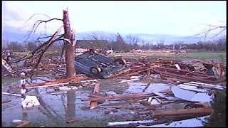 Reaction to damage from 1992 Indiana tornadoes - Video