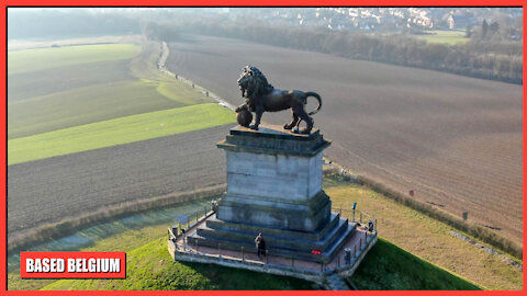 The Lion's Mound National Monument in Waterloo, Belgium