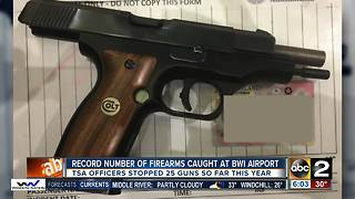 TSA catches record number of guns at BWI Airport in 2017 - Video