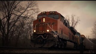 Freight train footage in NY suburbs