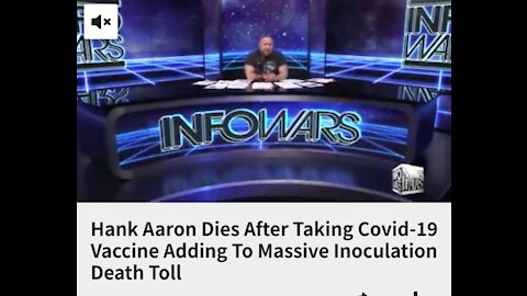 After the death of MLB Hall-of-Famer Hank Aaron's death weeks after taking the covid vaccine,