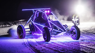 Speed Of LED Lights: Barracuda Crosskart vs Motorbike - Video