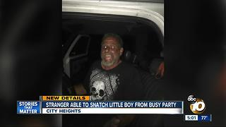 Man suspected of taking boy from busy party - Video