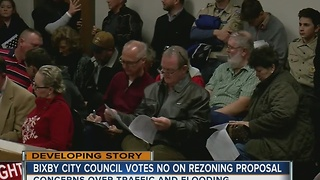 Bixby City Council Votes 'No' On Rezoning Proposal - Video