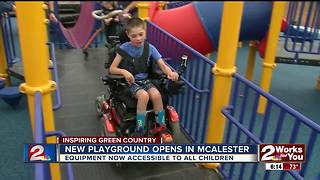 Families celebrate opening of new all-inclusive playground in McAlester - Video