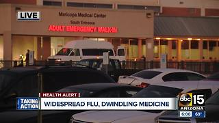 Widespread flu cases dwindling medicine supply