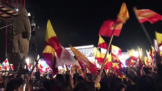 Crowd Celebrates Carlos Alvarado's Election Win in San Pedro - Video