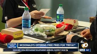 McDonald's offers free fries - Video