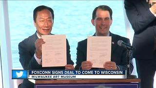State leaders react to the Foxconn deal - Video