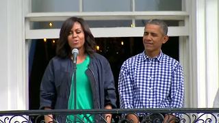 Obamas do the 'Whip/Nae Nae' at Easter egg roll - Video