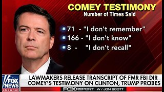 James Comey transcript: Former FBI boss downplays Hillary email scandal