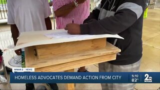 Homeless advocates demand action from city