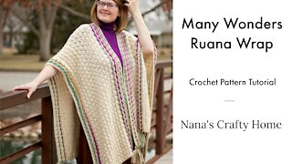 Many Wonders Crochet Ruana Tutorial