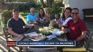 Text message saves group of friends from raging California wildfires - Video