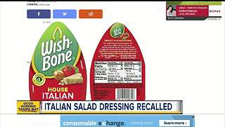 Recall issued for Wish-Bone House Italian salad dressing - Video