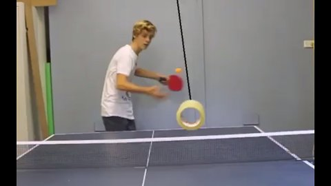 Watch This Guy Nail A One In A Million Ping-Pong Trick Shot!