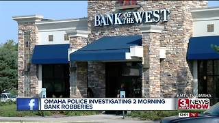 OPD investigation two bank robberies - Video