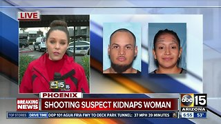 Suspect sought after shootings, kidnapping in Phoenix - Video
