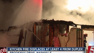 Crews Fight Duplex Fire On Brookway Drive - Video